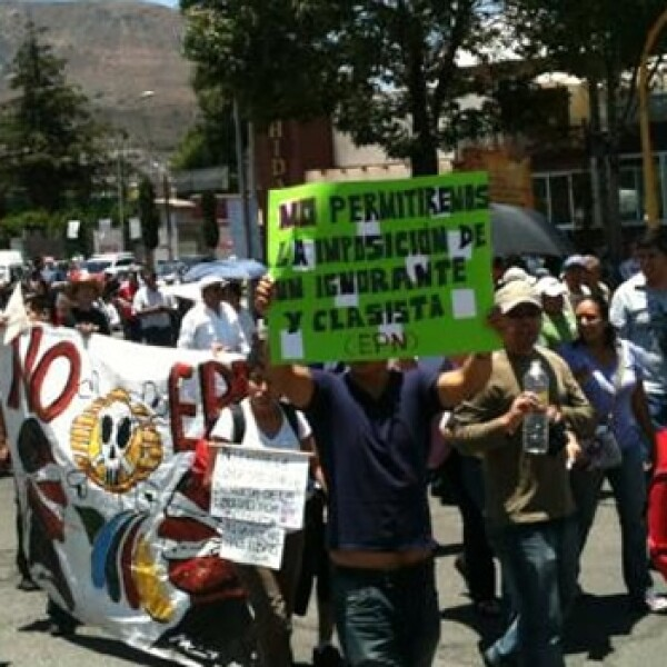 marcha anti peña en pachuca