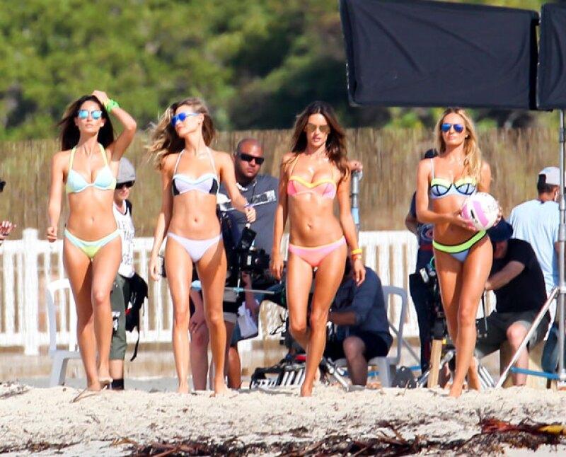 Alessandra Ambrosio, Candice Swanepoel, Lily Aldridge y Behati Prinsloo irradiarán su sexytud en el próximo video musical de Adam Levine.