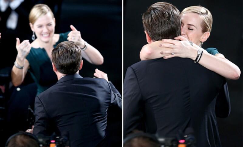 Sin duda Kate fue la más emocionada con el reconocimiento que le dieron al actor.