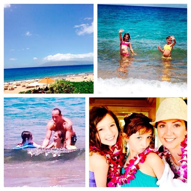 """La conductora de """"Hoy"""" viajó en compañía de Erik Mia y Nina a la isla Maui ,desde donde ha compartido lindas postales familiares."""