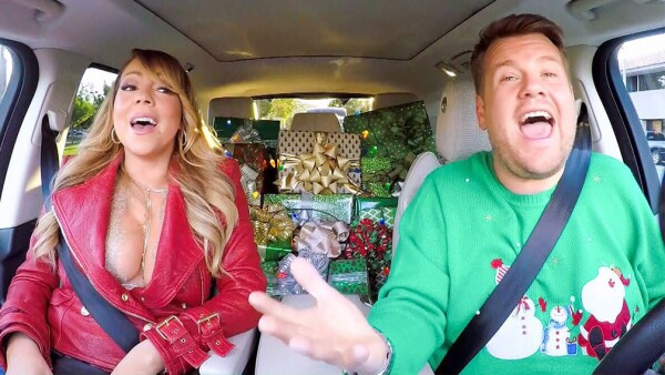 James Corden y Mariah Carey