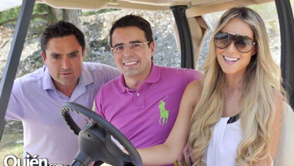 Sergio Elías Gutiérrez, Marco Ferrara y Vanessa Huppenkothen