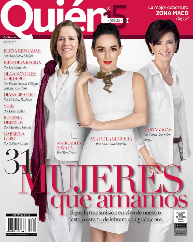 Por quinto año celebramos a aquellas mujeres que por su tenacidad, audacia y fortaleza empoderan al género. En portada Margarita Zavala, Ana de la Reguera y Gaby Vargas.