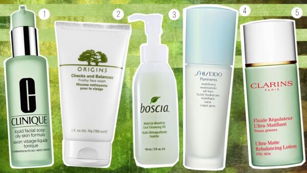 Clinique, Origins, Boscia, Shiseido y Clarins.