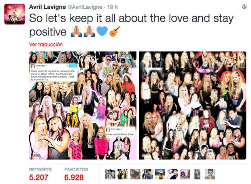 """Hasta el momento Taylor no ha respondido a Avril, pero ella con otro tuit, dio por terminada la """"controversia"""" en redes sociales."""