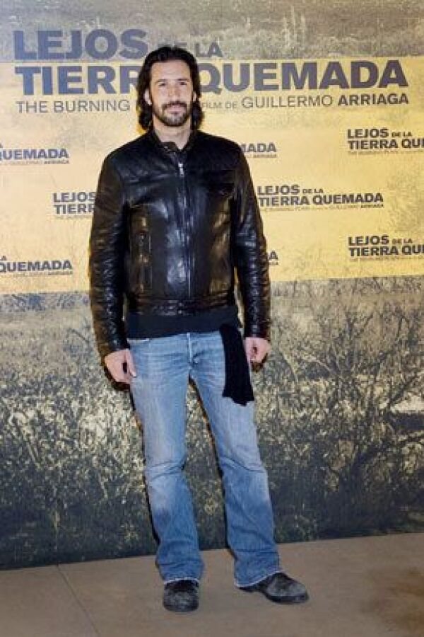 José María Yazpik, quien actúa en Lejos de la Tierra Quemada, estuvo presente en la presentación de la cinta.