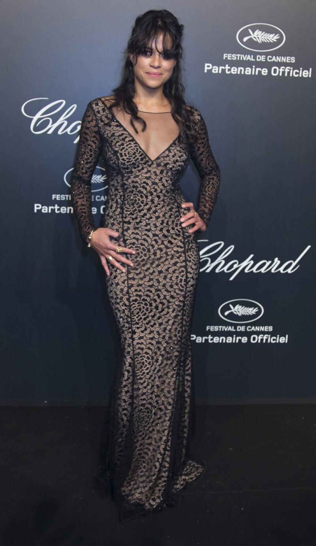 Michelle Rodriguez acaparó miradas con este sexy diseño.