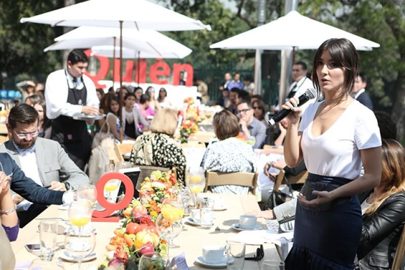 """La actriz fue homenajeada de Quién en el evento """"31 Mujeres que Amamos"""", donde invitó a los asistentes a tener mayor empatía con la gente que los rodea para conseguir un mejor México."""