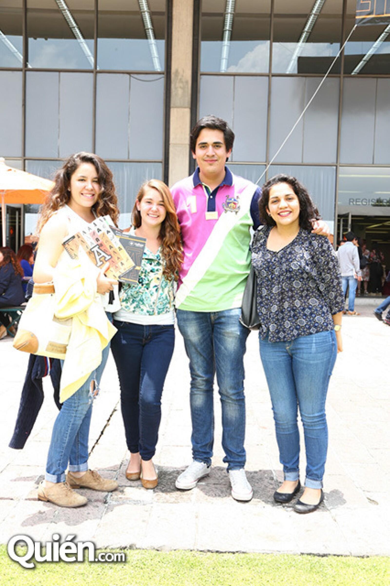 Fernanda Alcalá, Olivia Urdiales, Rodrigo Sánchez y Valeria Yáñez