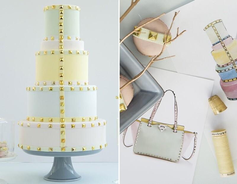 ¿Recuerdas las piezas en pastel de Valentino? Esta es una interpretación muy exacta de esa colección.