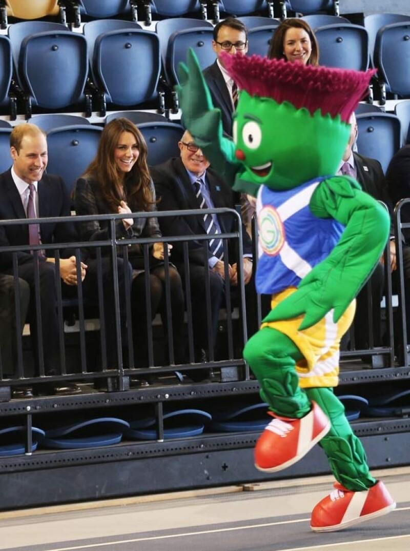 Kate Middleton y el Príncipe en el Velódromo.