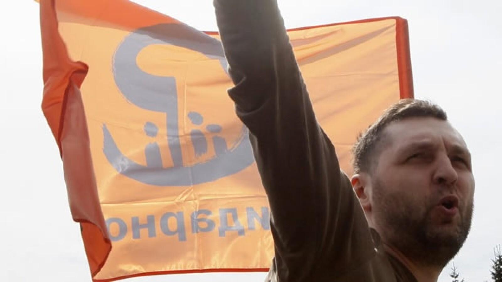 Manifestantes marchan contra Vladimir Putin