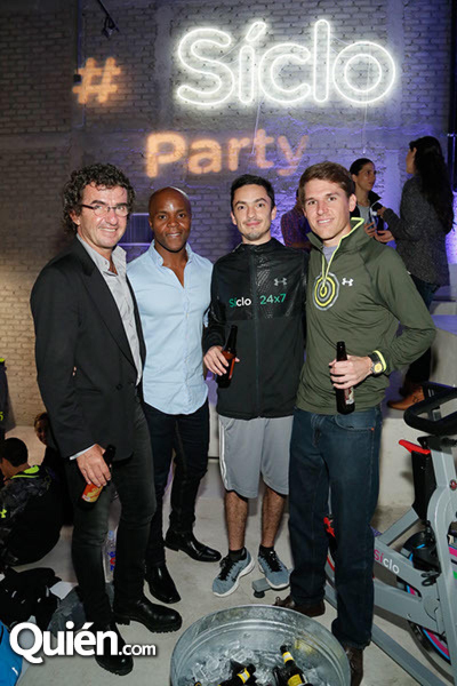 Fredy Helfon, Jeremy Whistine, Pedro de Garay y Alejandro Ramos
