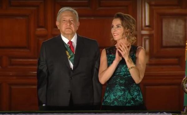 El Presidente Andrés Manuel López Obrador y Beatriz Gutiérrez Müller