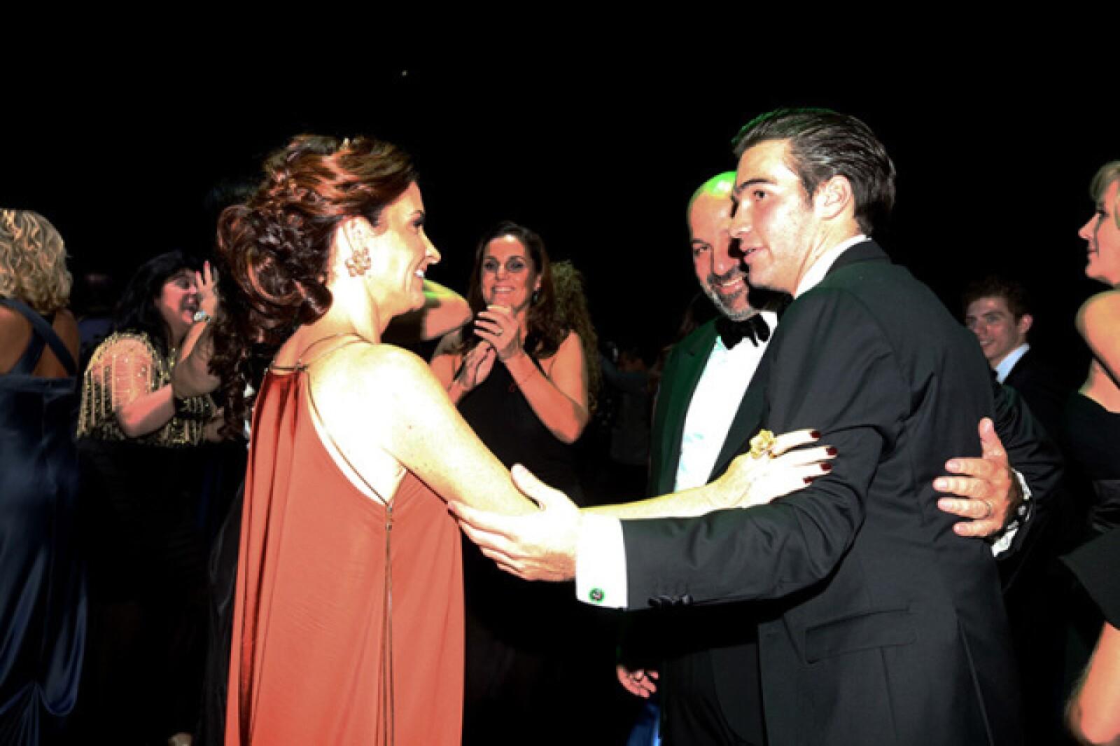 Maria, Patricio y Diego Slim