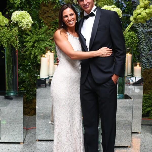 Arturo Elías y Johanna Slim