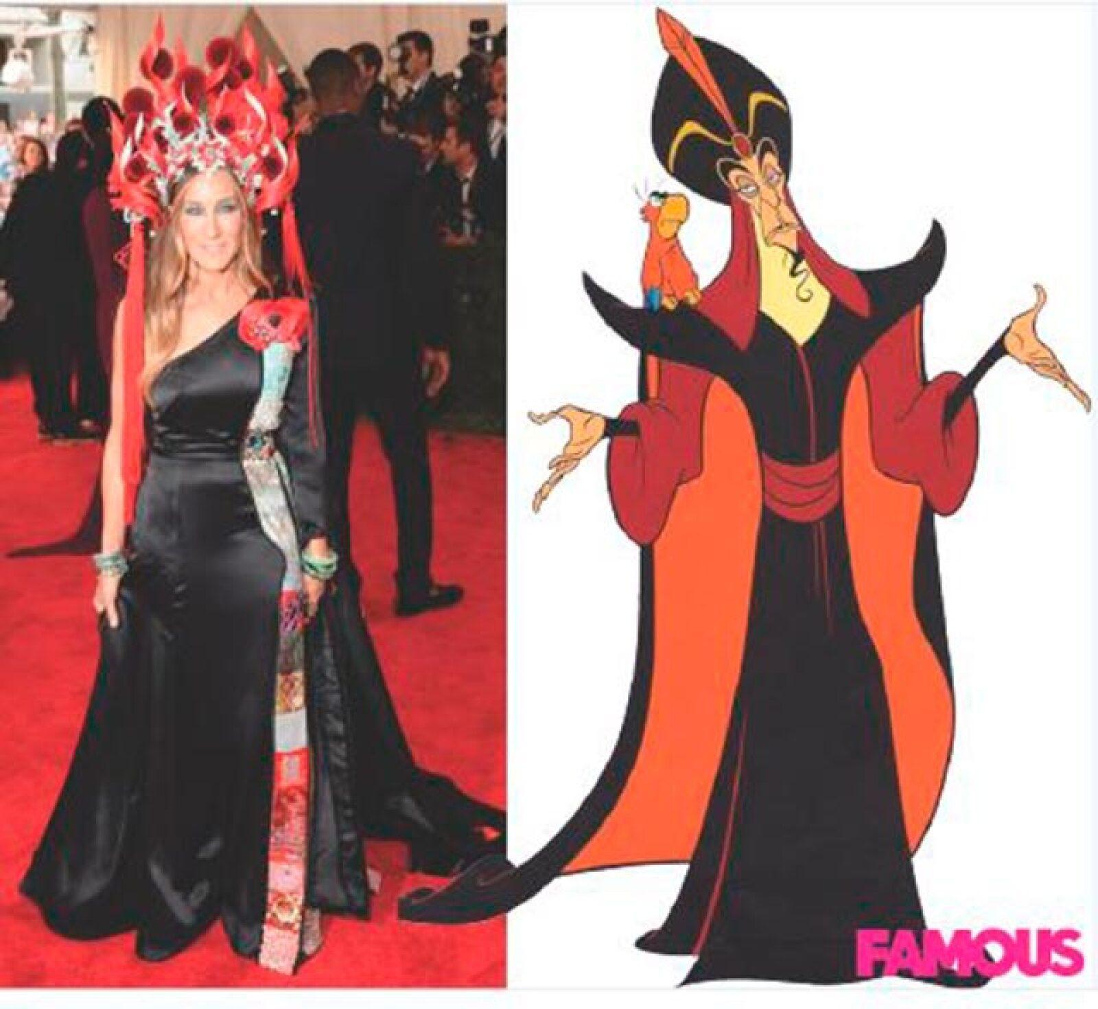 Sarah Jessica Parker comparada con Jafar, el villano de la película animada Aladdín.