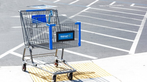 Walmart shopping cart.