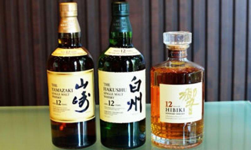 Estos son algunos de los whisky comercializados por Suntory. (Foto: Suntory)