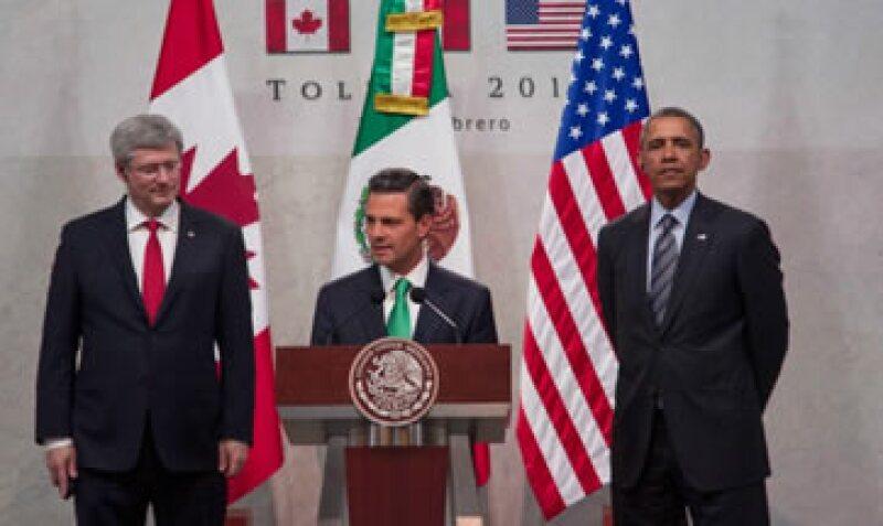 Tras la firma del TLCAN, México y EU pasaron 17 años enfrascados en un conflicto sobre el tránsito fronterizo de camiones. (Foto: Tomada de presidecia.gob.mx)
