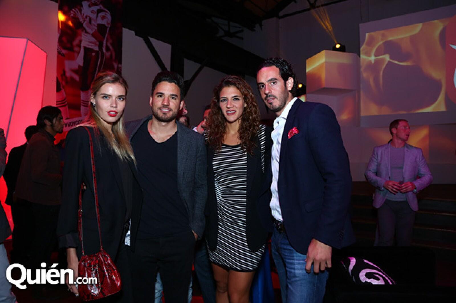 Mariana Poly, Mauricio Pintado, Wdeth Gabriel y Diego Sánchez