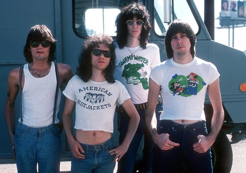 En la imagen Dee Dee Ramone, Tommy Ramone, Joey Ramone y Johnny Ramone en 1976.