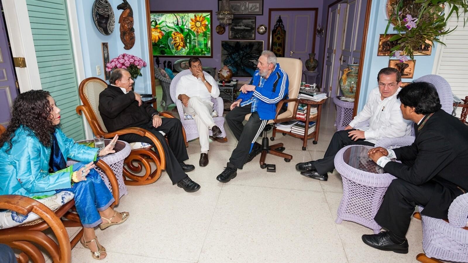 reunion de fidel con presidente latinoamericanos