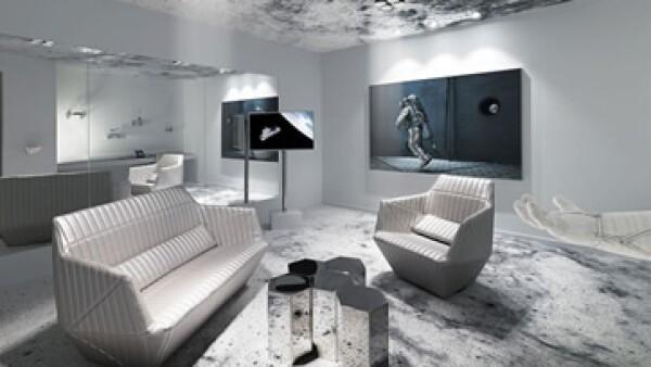 La suite tiene un color e iluminación inspirados en los cohetes. (Foto: Cortesía/ Kameha Grand Zurich )