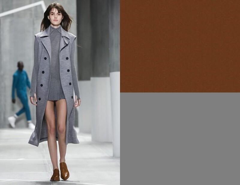 Imita de este look de Lacoste en gris y café.