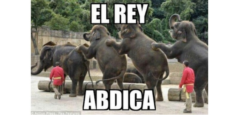 Esta imagen fue compartida por el escándalo de cacería de elefantes en el que se vio involucrado el Rey el año pasado.