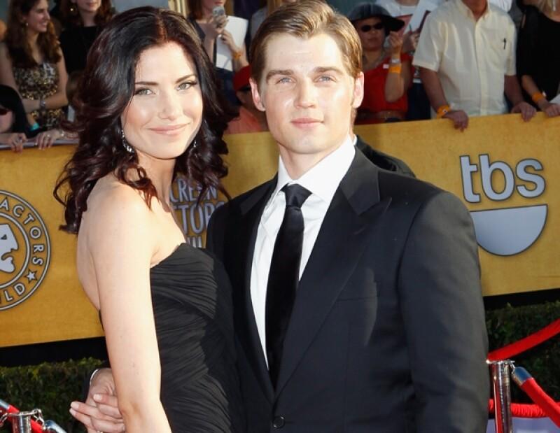 Mike es sumamente familiar y su prioridad son sus hijos. Aquí con su esposa Courtney.