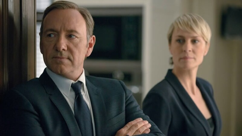 Kevin Spacey (Frank Underwood) de ?House of Cards? junto a su coestelar, Robin Wright