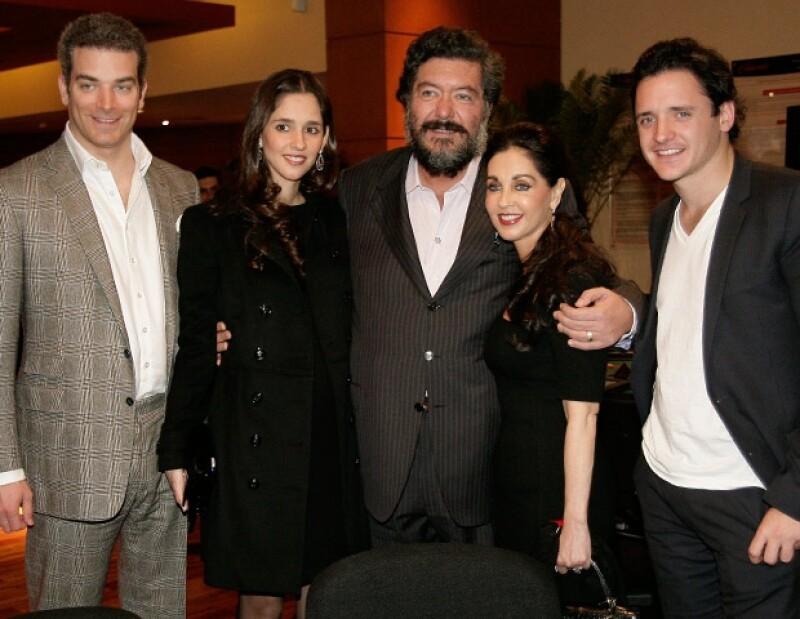 Marc Moret, Mara Hank de Moret, Jorge Hank Rhon, María Elvia Amaya de Hank y Emilio Hank.