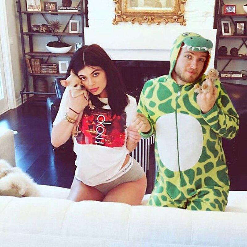 En una selfie con Kylie.