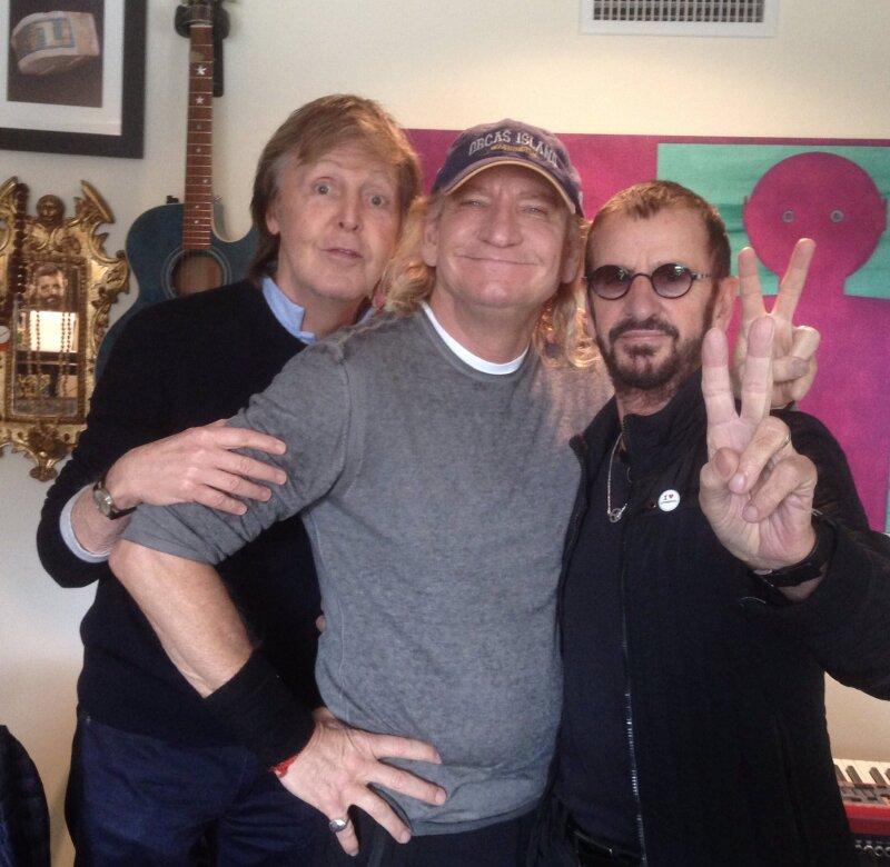 Ringo Starr y Paul McCartney