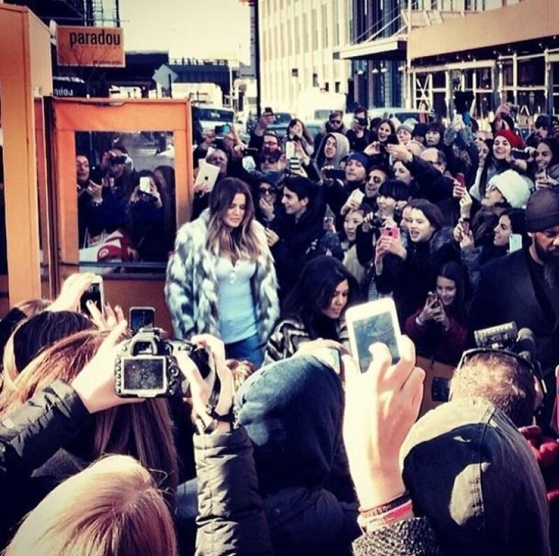 La socialité compartió imágenes del impacto que tuvo con su protesta.