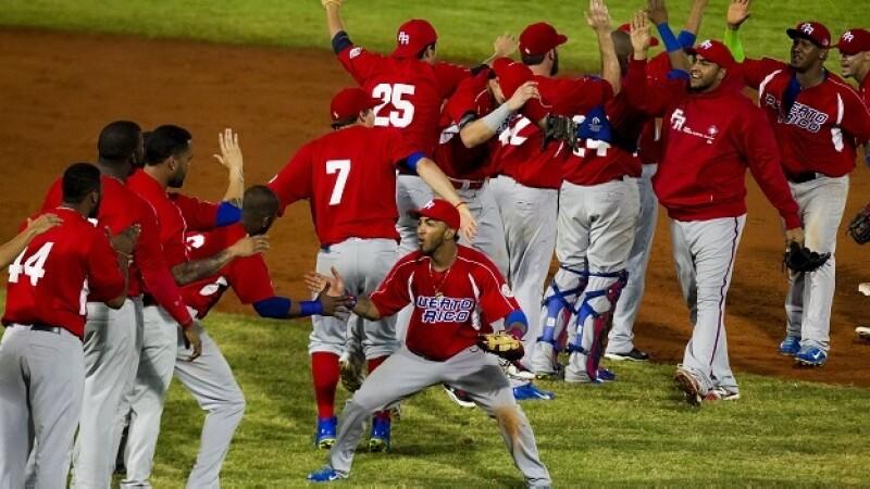 Los jugadores de Puerto Rico final Serie del Caribe