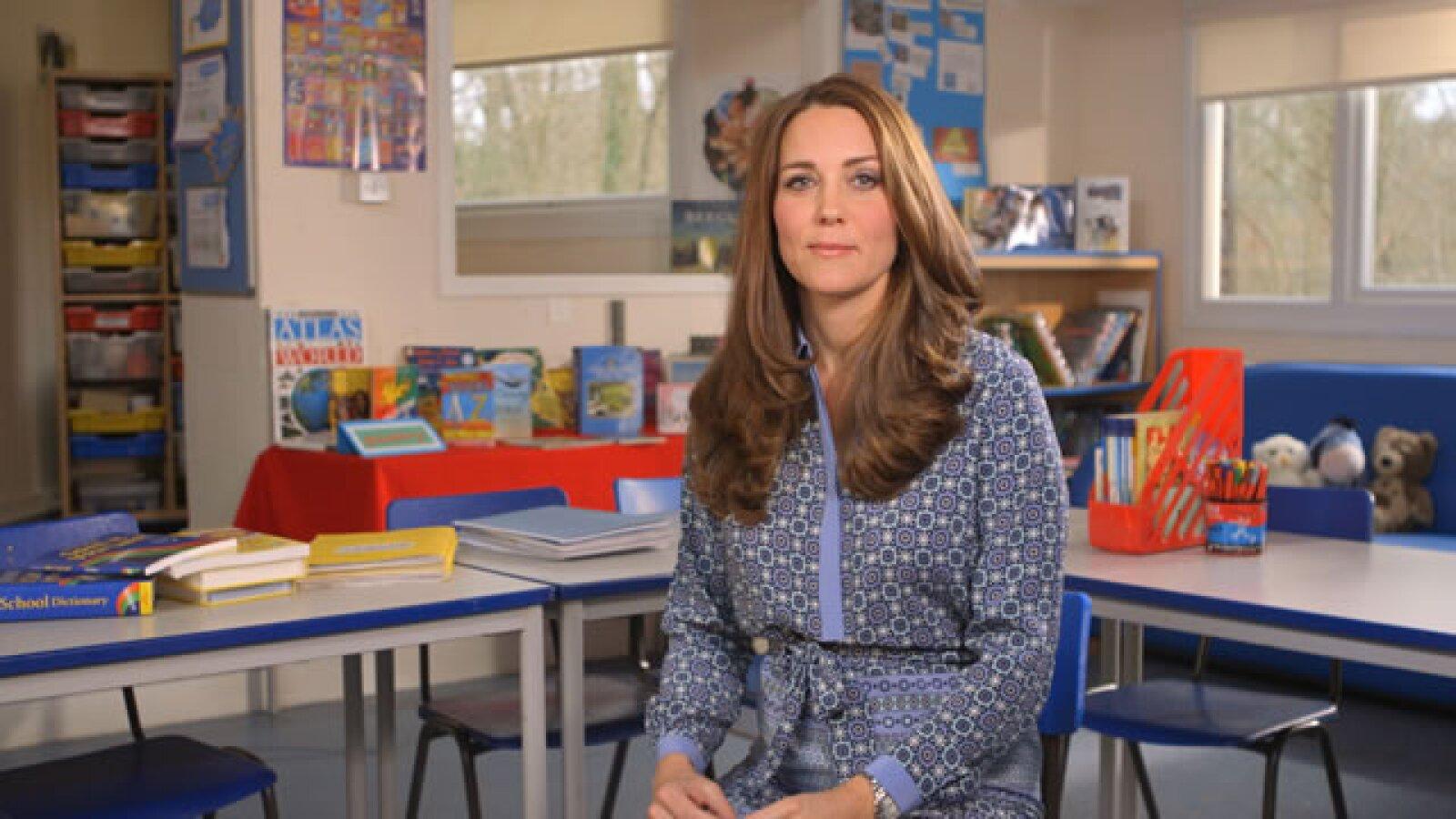 Kate Middleton en un video que publico sobre una fundación a la que apoya.
