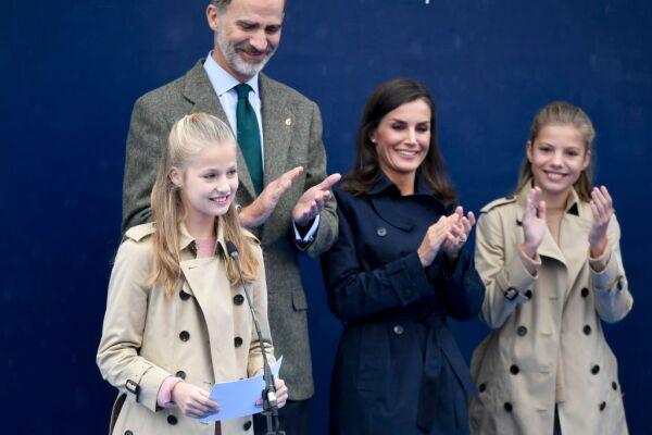 Princesa Leonor, rey Felipe VI, reina Letizia y la infanta Sofía