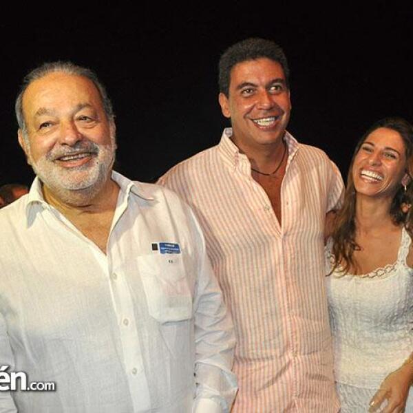 Carlos Slim, Arturo Elías Ayub y Johanna Slim.