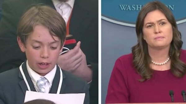 La pregunta de un niño sobre masacres doblega a la secretaria de Prensa de Trump