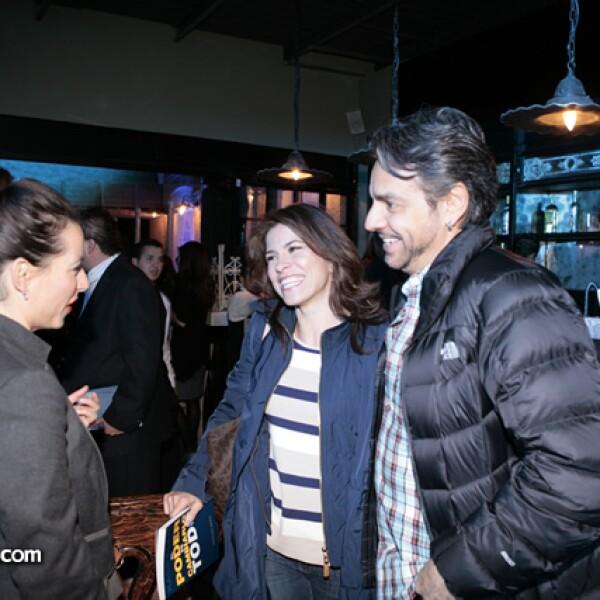 Claudia Lizaldi, Alessandra Rosaldo y Eugenio Derbez