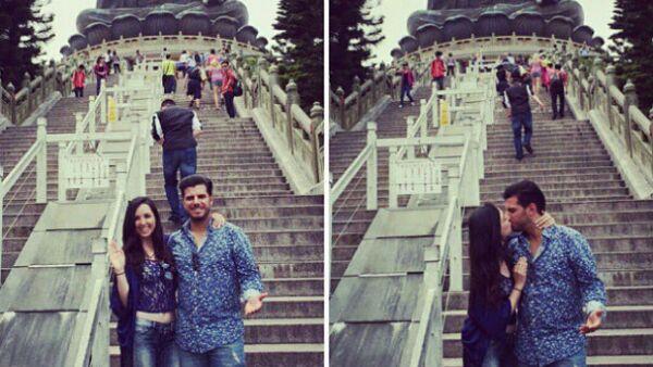 La recién casada actriz y su esposo Héctor Salazar emprendieron un romántico viaje que los llevará durante casi un mes por diversos destinos de Asia como Hong Kong y Tokio.