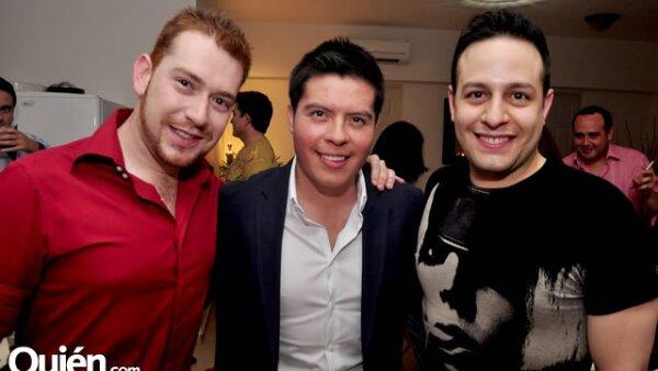 César Peralta, Joab Ramírez y Manuel Villamar