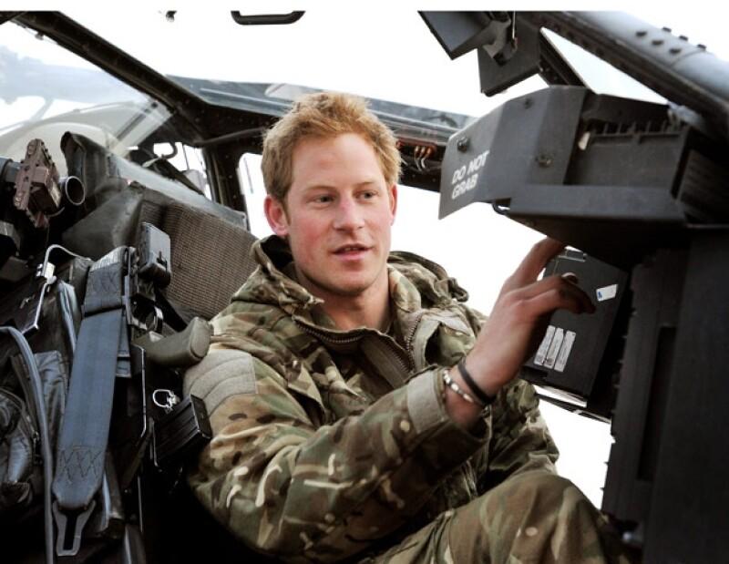 El real inglés declaró que siente `sabor a sangre en la boca´ cuando le dan la orden de iniciar ataques contra los talibanes en la guerra de Afganistán.