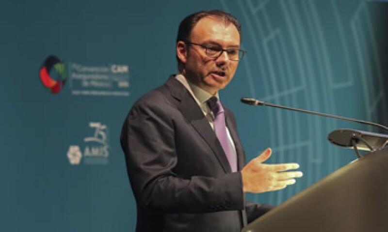 El Secretario de Hacienda y Crédito Público, Luis Videgaray, dijo que las reformas han aliviado a la inflación.  (Foto: Cuartoscuro)