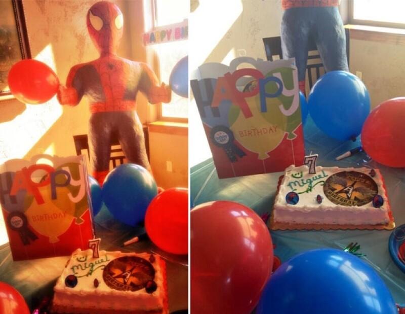 Aracely compartió varias imágenes de la fiesta de su hijo.