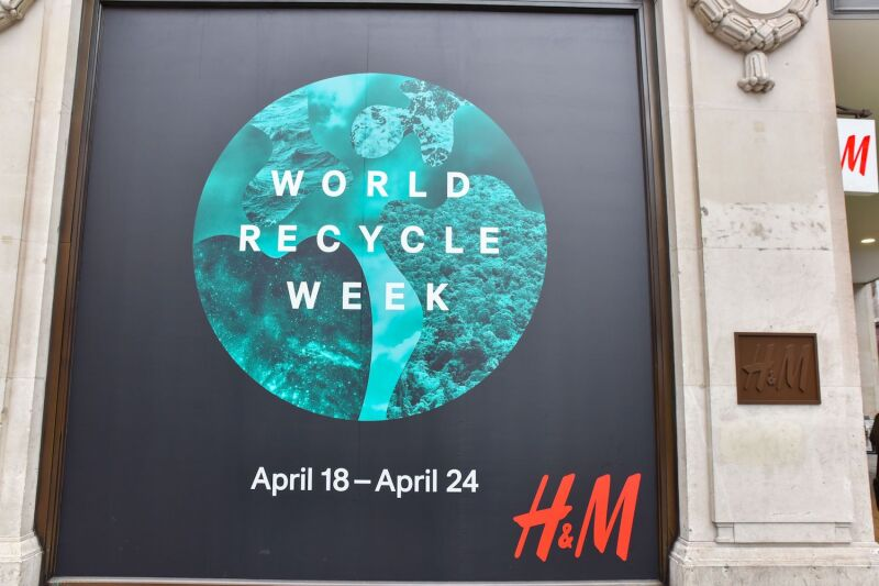 World Recycle Week at H&M, London, Britain - 18 Apr 2016