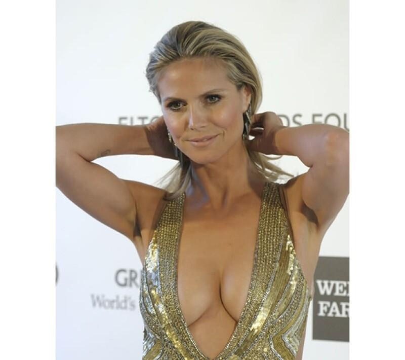 Este fue el escote por el que Joan hizo una broma de pésimo gusto a la guapa Heidi.