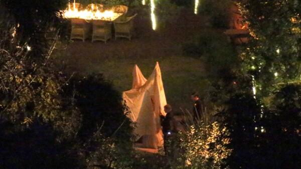 Con famosos invitados como Drew Barrymore y Gwyneth Paltrow, la actriz dio el sí en su casa de Beverly Hills.